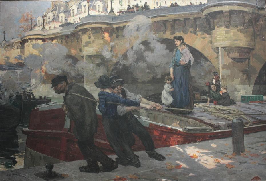 Mariniers au Pont Neuf à Paris