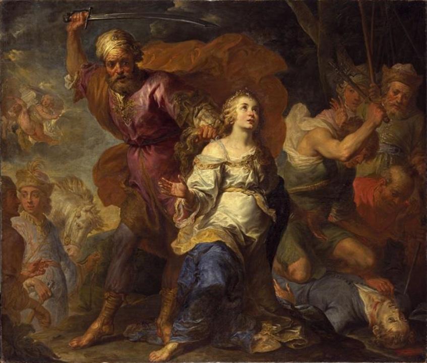 Martyrdom of St. Dymphna and St. Gerebernus.