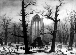 Monastery Burial-Ground Under Snow