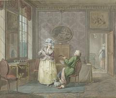 Musicerend paar in een interieur