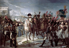 Napoleon harangues the 2nd Corps of the Grand Army on Lech Bridge in Augsburg on October 12, 1805