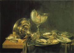 Nautilus Cup, Tazza, and Plates of Oysters