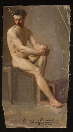 Nude of a seated man
