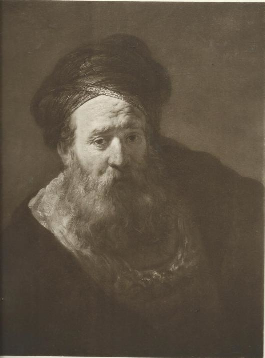 Old man with beard and turban