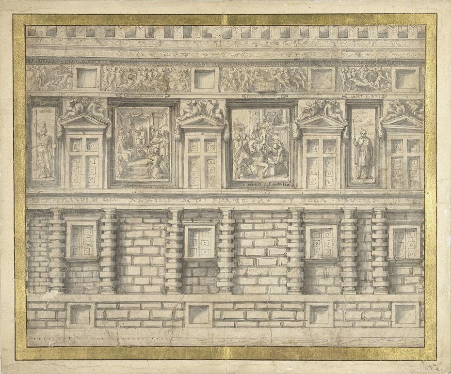 Ontwerp voor de noordgevel van het Palazzo Doria, Genua