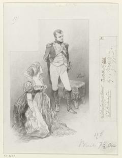 Ontwerp voor illustratie voor De Kolossus der Negentiende Eeuw door P.J. Andriessen (Textill., blz. 120); scène uit het leven van Napoleon