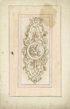 Ornamentaal ontwerp voor een deurpaneel