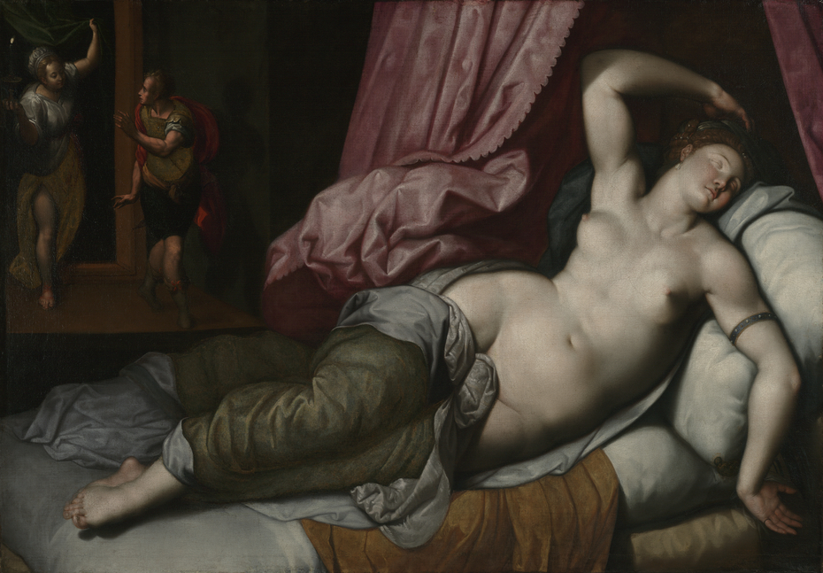 Paris Being Admitted to the Bedchamber of Helen