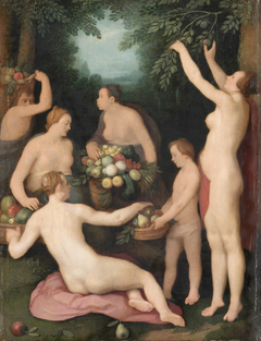 Pomona Receives the Harvest of Fruit