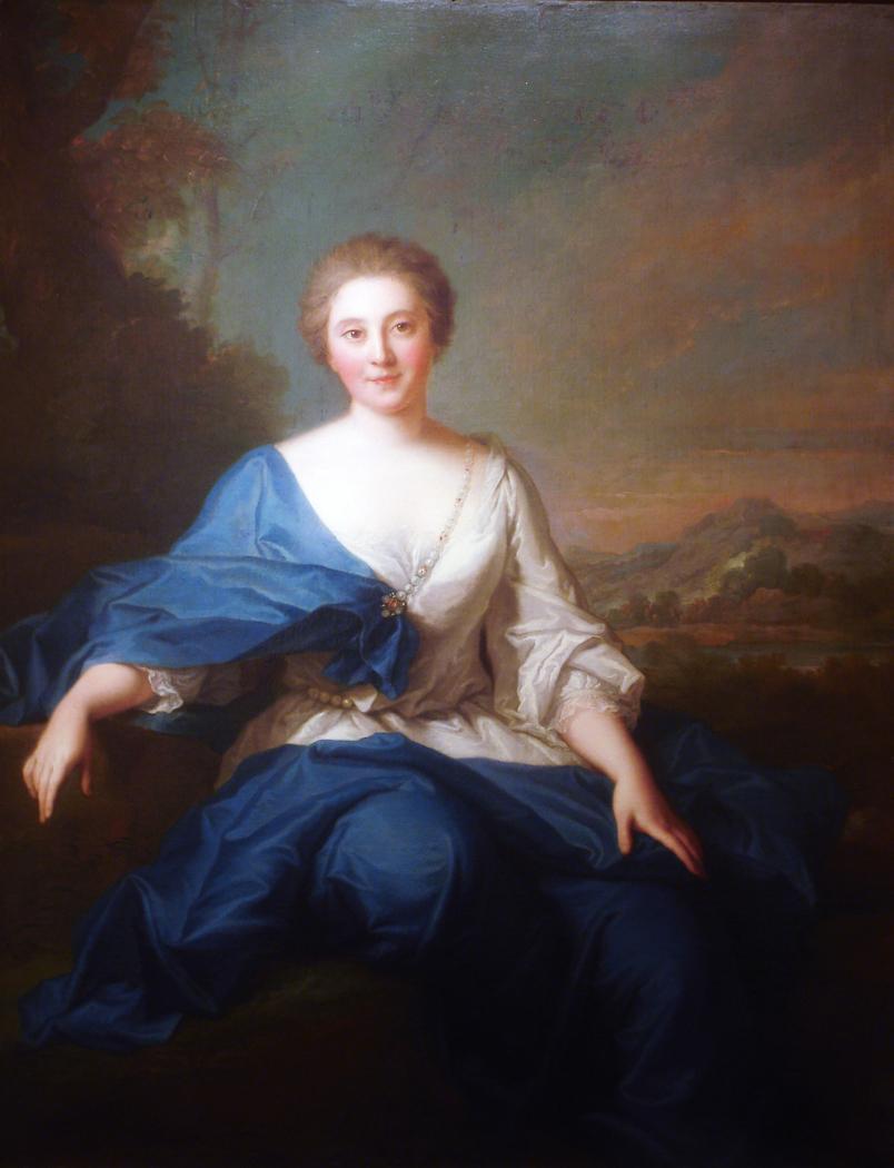 Portrait de Mlle Henault, comtesse d'Aubeterre