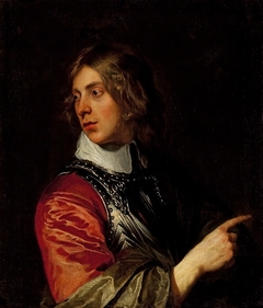 Portrait of a young man in cuirass.