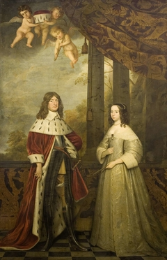 Portrait of Friedrich Wilhelm, Elector of Brandenburg, with his Wife Louise Henrietta, Countess of Nassau