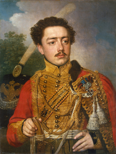"""""""Portrait of Pavel Masyukov, the Cavalry Captain of the Life-Guards Hussar Regiment"""""""