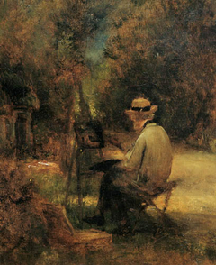 Portrait of the artist at his easel