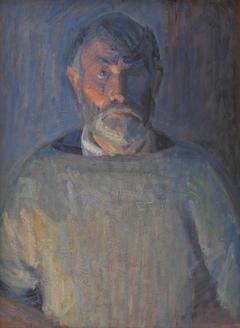 Portrait of the Artist. Lamplight