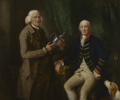 Portrait of William Anne Hollis, 4th Earl of Essex, Presenting a Cup to Thomas Clutterbuck of Watford