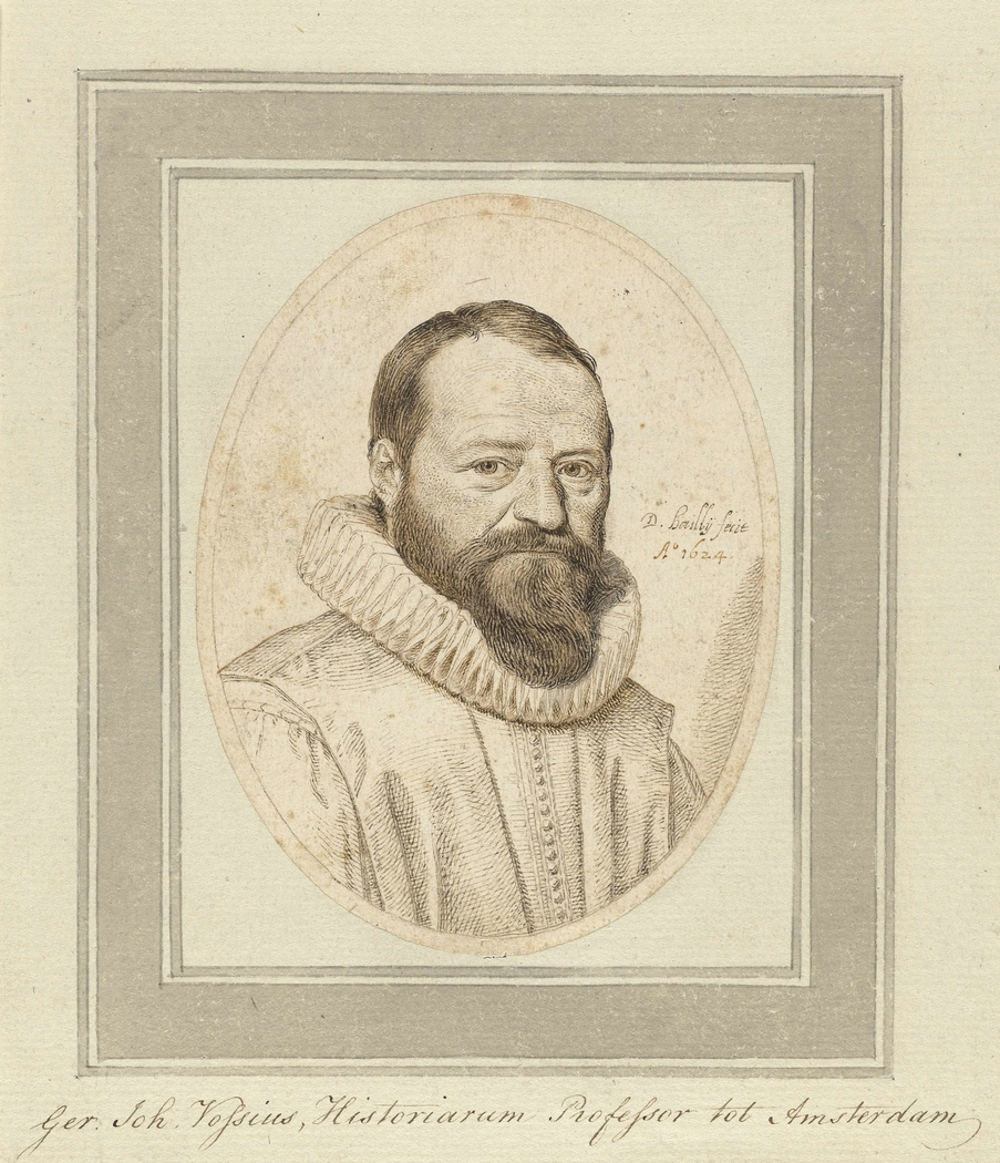 Portret van professor Gerardus Johannes Vossius