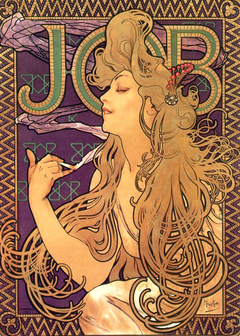 Poster for 'Job' cigarette paper