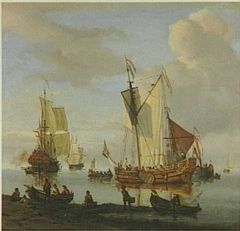 Riverbank with Dutch Shipping