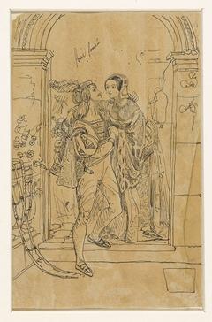 Romeo en Juliette in 15e eeuws kostuum