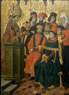 Saint Augustine and Saint Monica in a Sermon by Saint Ambrose