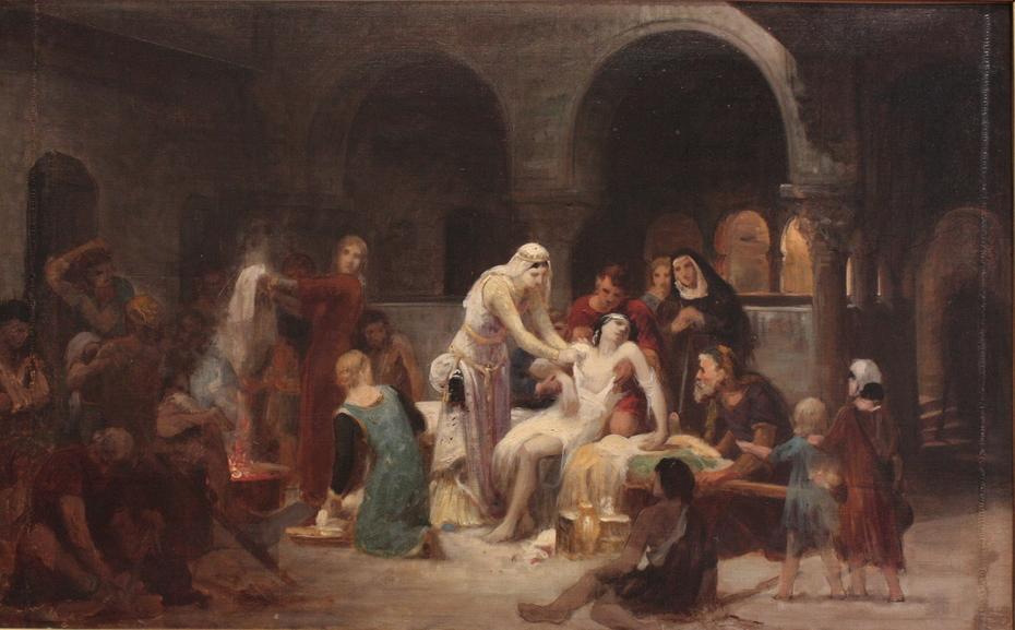 Sainte Elisabeth de Hongrie soignant les malades