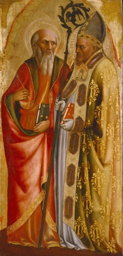 Saints John the Evangelist(?) and Martin of Tours
