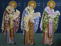Saints Nikolaos, Grigorios, Ioannis Chrisostomos