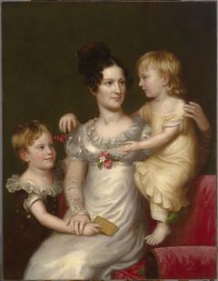 Sarah Weston Seaton with her Children Augustine and Julia