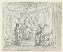 Schets voor een toneelgordijn in Den Haag