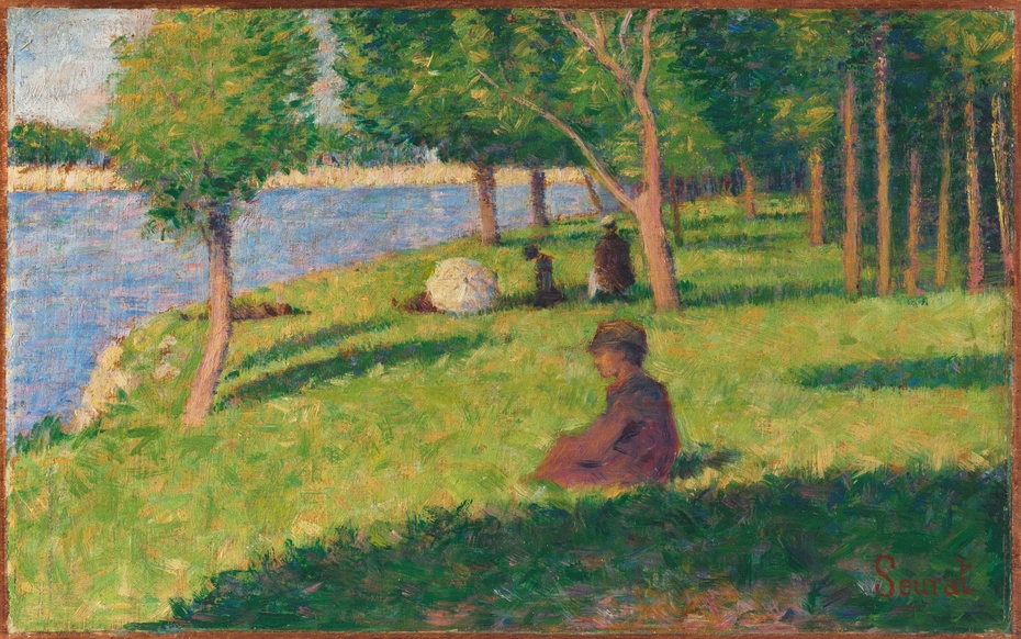 Seated Figures, Study for A Sunday Afternoon on the Island of La Grande Jatte