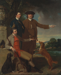 Self-Portrait with His Father and His Brother