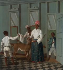 Servants Washing a Deer