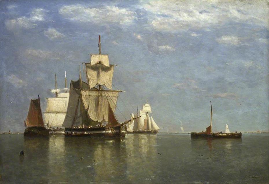 Ships lying off Flushing