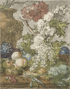 Sketch for a Still Life of Fruit and Flowers