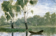 Small Lake with Boat