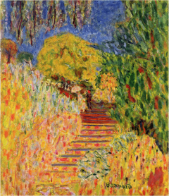 Stairs with Mimosa