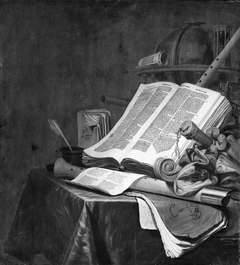 Still Life with Books and Musical Instruments