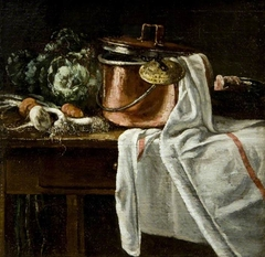 Still Life with Vegetables and Cooking Utensils