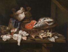 Stilleven met vissen en schaaldieren