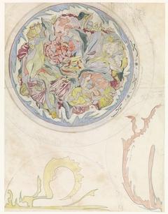 Studie voor een tulpenschaal