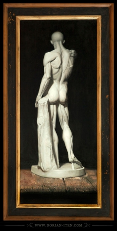 "Study of a plaster cast of Houdon's ""Écorché"""