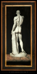 "Study of a plaster cast of Houdon's ""Écorché"""