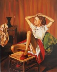 Study of 'Teressa dreaming' (Balthus)