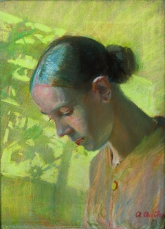 Study of the seamstress' head, Ane