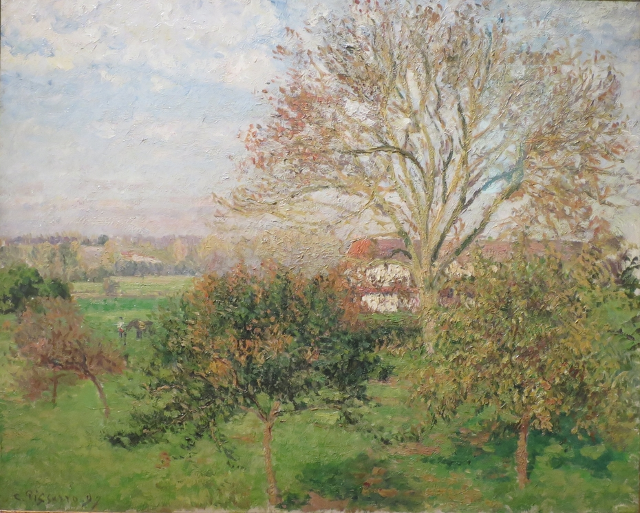 The Big Walnut Tree, Autumn Morning, Éragny