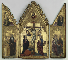 The Crucifixion, with Saints