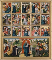 The Fifteen Mysteries and the Virgin of the Rosary
