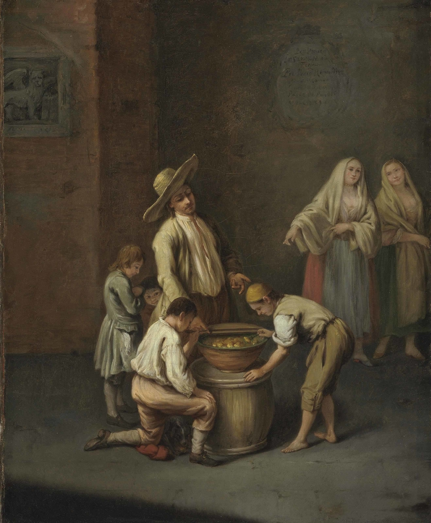 The fritole seller