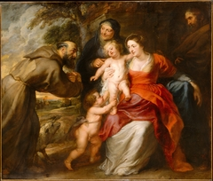 The Holy Family with Saints Francis and Anne and the Infant Saint John the Baptist